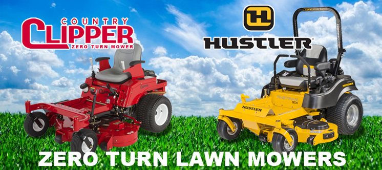 Zero-turn mowers, Hustler and Country Clipper