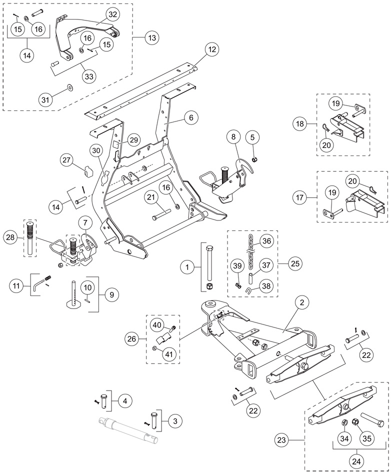Wideout UltraMount liftandaframe qte western parts western snow plow and spreader parts Western Snow Plow Wiring Diagram at soozxer.org