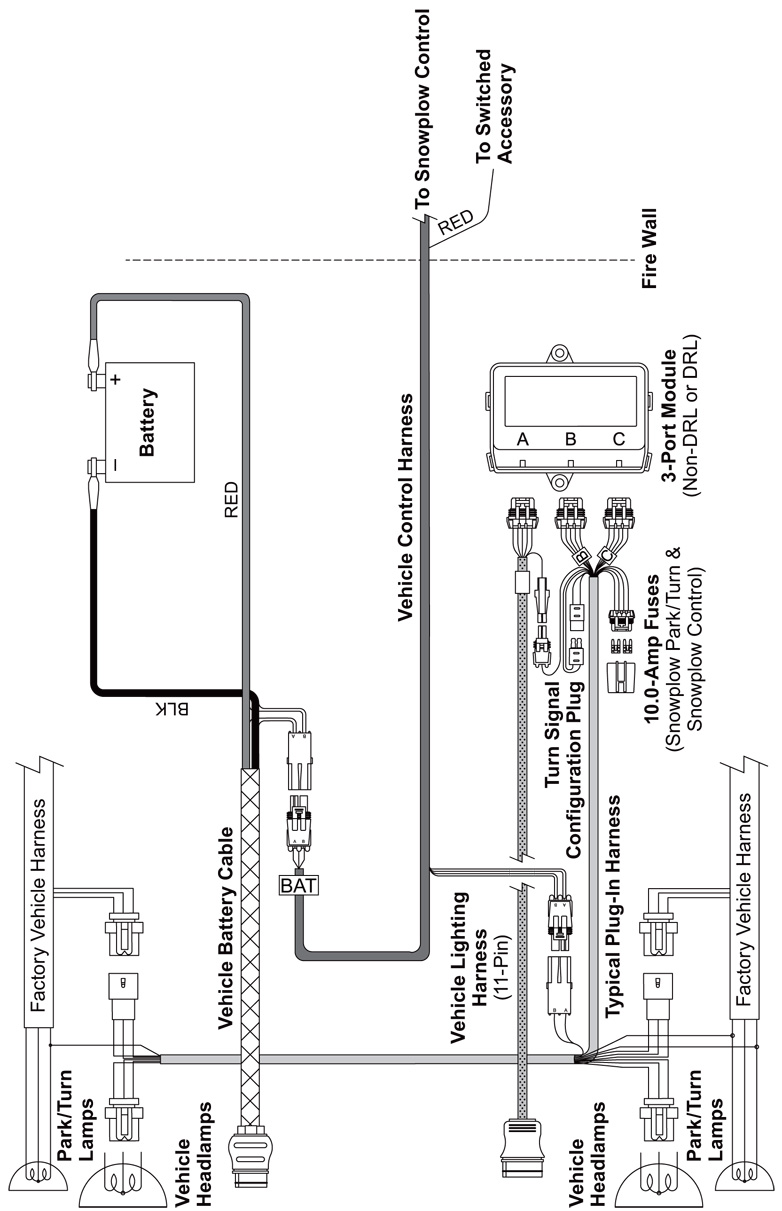 Kohler Transfer Switch Wiring Diagrams together with Midweight Electrical Vehicle additionally Western Cable Plow 3 Pole Solenoid Wiring Diagrams further Plow Lights Meyer Diamond Truck Light Harness 80830 07974 also Fisher Homesteader Plow Wiring Diagram. on western vehicle side wiring diagram 3 port plug