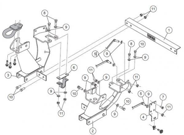 Western 33259 Ultramount Kit