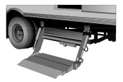 Leyman Side Lift STG Hide-A-Way Flatbed / Stake Liftgate